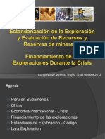 121018_Congreso de Mineria - Financiamiento y Estandares Trujillo