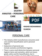 personal care industry analysis- 2012 indian prespective