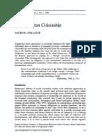 Cosmopolitan Citizenship (Linklater)