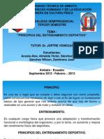 Principios Del Entrenamiento Deportivo Uta