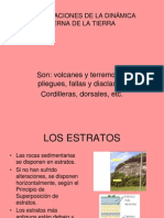 MANIFESTACIONES DE LA DINÁMICA INTERNA DE LA TIERRA