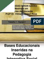 Bases Educacionais Inseridas Na Pedagogia Integrativa Social