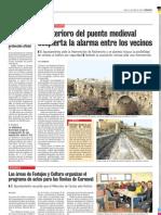 Deterioro del puente medieval-Puente del Congosto