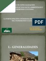 LA PARTICIPACIÓN CIUDADANA EN LA GESTION DEL PATRIMONIO CULTURAL