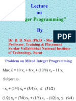 Integer Programming (2) - Lecture