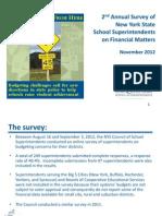 2012 School Finance Survey Presentation