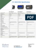 Garmin 010-00591-00 GPSMAP 4008 8.4 Inch Marine Network Chartplotter Mfd Multifunction Display Specifications
