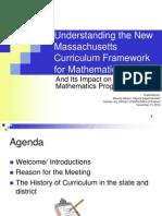 Understanding the new MA curriculum framework