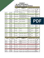 Final Term Schedule Fall 2012