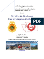 2013 Pacific Northwest Fire Investigation Conference Flyer