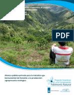 Alianza público-privada para la iniciativa gubernamental de fomento a la producción agropecuaria ecológica
