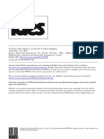 Nun El Futuro Del Empleo y La Tesis de La Masa Marginal Desarrollo Economico 1999