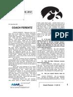 Coach Ferentz - 11 20 12