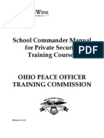 Private Security Commander Manual Effective 1-1-13