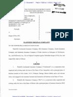 CONTINENTAL INSURANCE COMOPANY et al v. DEUGRO (USA) INC Complaint