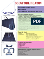 Horseshoes for Life Correctional Institution Security Flyer