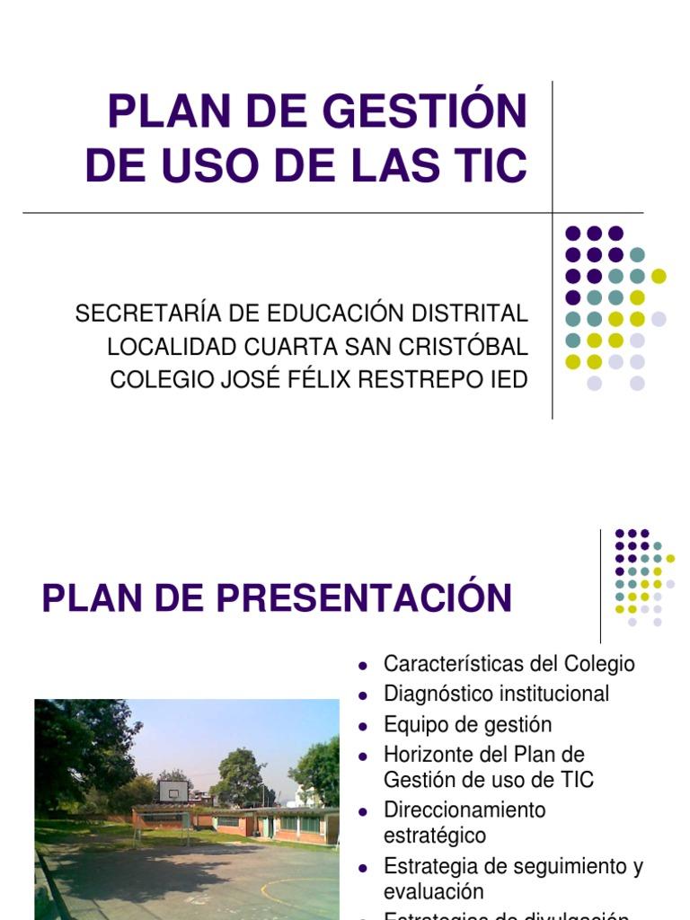 Plan de Gestion de Uso de Las Tic-doc Final