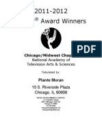Chicago Midwest Emmy Award Winners 2012