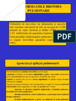 MALFORMATIILE BRONHO-PULMONARE