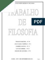 Trabalho de Filosofia Em PDF