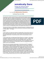 Polya GoalsofMathematicsEducation