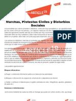 Marchas, Protestas Civiles y Disturbios Sociales