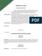 Decreto N°45-2002 Ley Contra el Delito de Lavado
