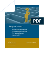University of Ottawa Ombudsperson - Progress Report I - Action taken following the recommendations from the First Annual Report from September 2011 - November 2012