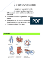 Module 2 - Topic 1 - Protein Structure & Function Cont.