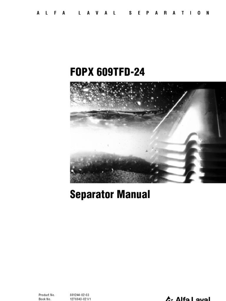 alfa laval separator manual fopx 609 corrosion bearing mechanical