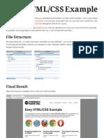 Easy HTML/CSS Example