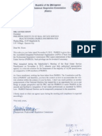 Nov 13 - PRC Letter to PhilRES (rec'd Nov 14)
