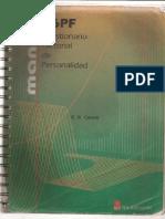 16pf Cuestionario Factorial de Personalidad Manual Escaneado..