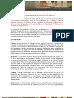 14/11/12 - Proposiciones de acuerdo de los órganos de gobierno De la Junta de Coordinación Política, por el que se propone la constitución de una comisión investigadora sobre el funcionamiento de la Comisión Nacional para la Protección y Defensa de los Usuarios de Servicios Financieros