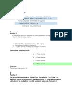 Quiz 1 Finanzas