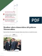 18-11-12 Sexenio Puebla - Resaltan valores democráticos del gobierno Morenovallista