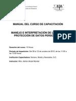 Curso Manejo e Interpretación de la Ley de Protección de Datos Personales