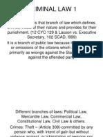 Criminal Law I Revised(Latest)