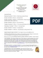 November 2, 2012 What's Happening At Trinity