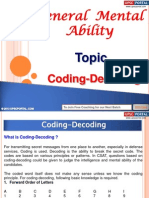General Mental Ability Coding Decoding