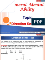 General Mental Ability Direction Sence Test