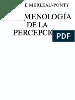 Merleau-Ponty - Fenomenología de la percepción - 1993
