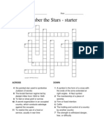 Number the Stars CrossWord Starter