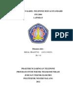 Pembuatan Kabel Telepone Sesuai Standard Sni 2004