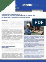 Art. 1 -Experiencia de implantación de un programa de seguridad eléctrica basado en la NFPA 70E en PGPB México