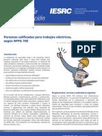 Art. 7 - Personas calificadas para trabajos eléctricos, según NFPA 70E
