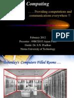 Ubiquitous Computing 1 (An introduction)