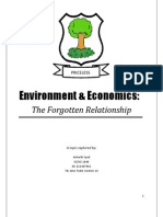 Economics and the Enviornment, The Forgotten Relationship