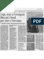 Lega, stop a Formigoni. Bloccati i fondi per Aler e Nerviano