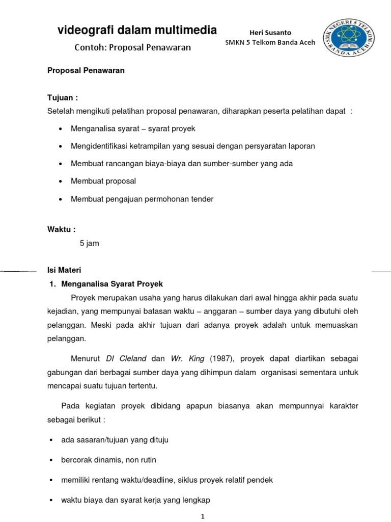 Contoh Proposal Penawaran Produk Pdf Skipolv